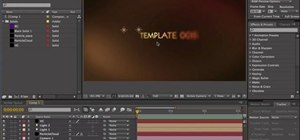 Create a title sequence in Adobe After Effects