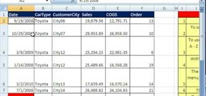 Sort data with sorting functions in Microsoft Excel