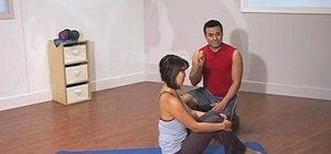 Perform a Pilates mat exercises suitable for children
