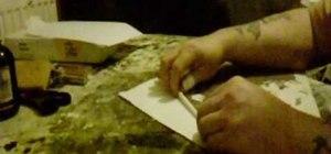 Make a paper mache glitter wand