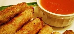 Make Filipino limpiang shanghai (spring rolls)