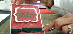 Make a Christmas easel card using Cricut Storybook