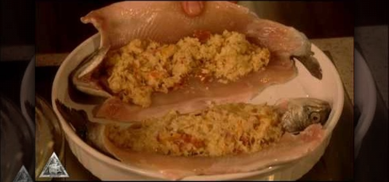 How To Bake Crab Meat And Bacon Stuffed Trout Fish
