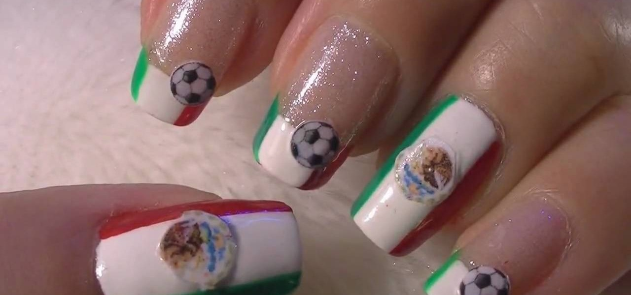 How to do mexico inspired nail art for the 2010 world cup nails how to do mexico inspired nail art for the 2010 world cup nails manicure wonderhowto prinsesfo Image collections