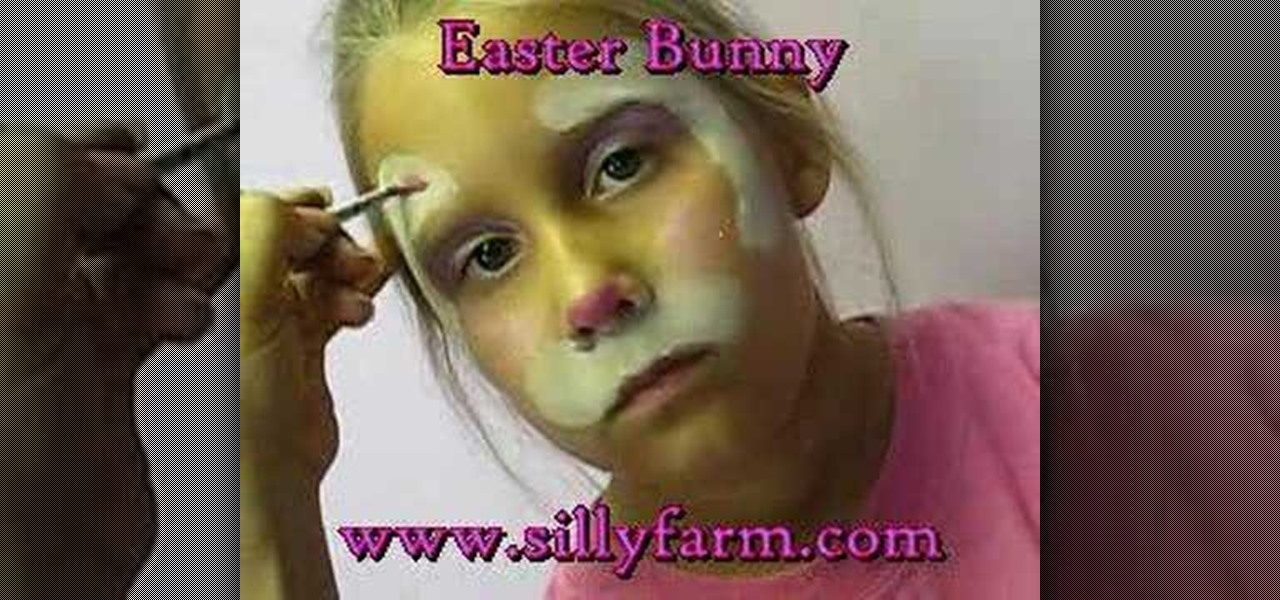How to apply cute easter bunny face paint kids for How to apply face paint
