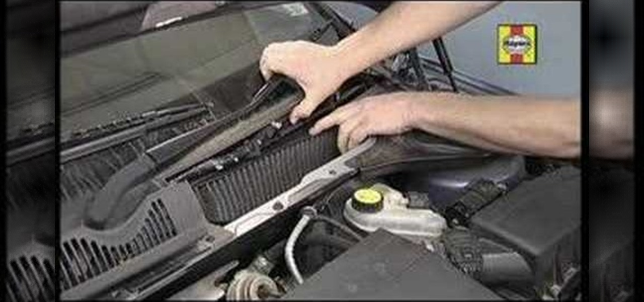 How to change the cabin air filter in your car youtube for Change cabin air filter