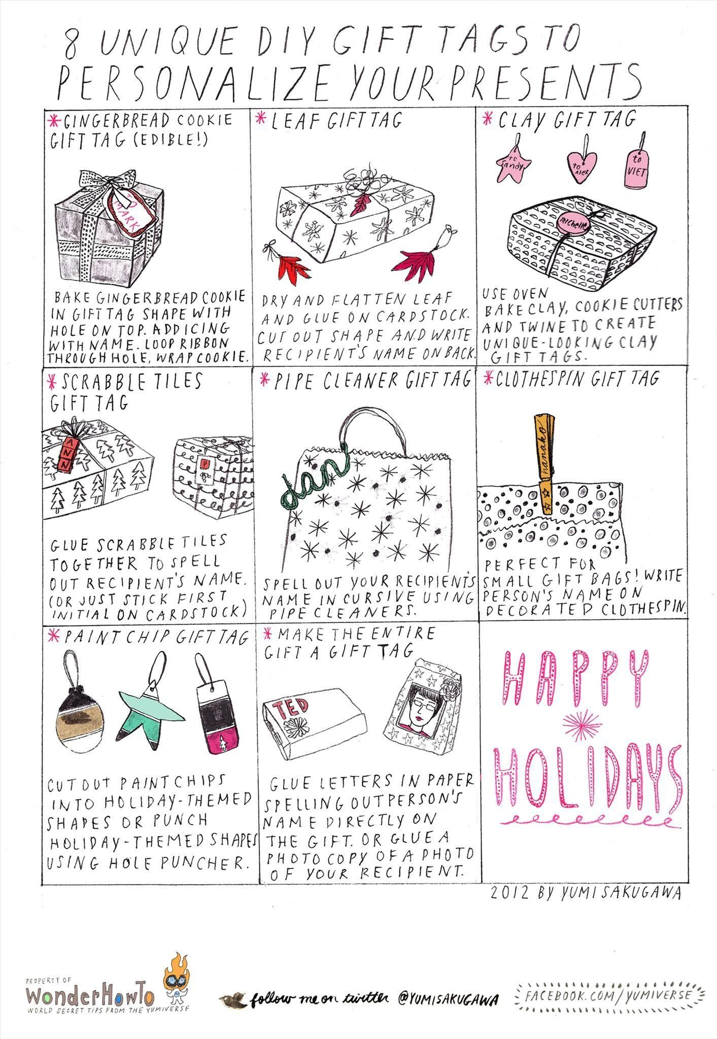 8 Unique DIY Gift Tag Ideas for Personalizing Your Holiday Gifts