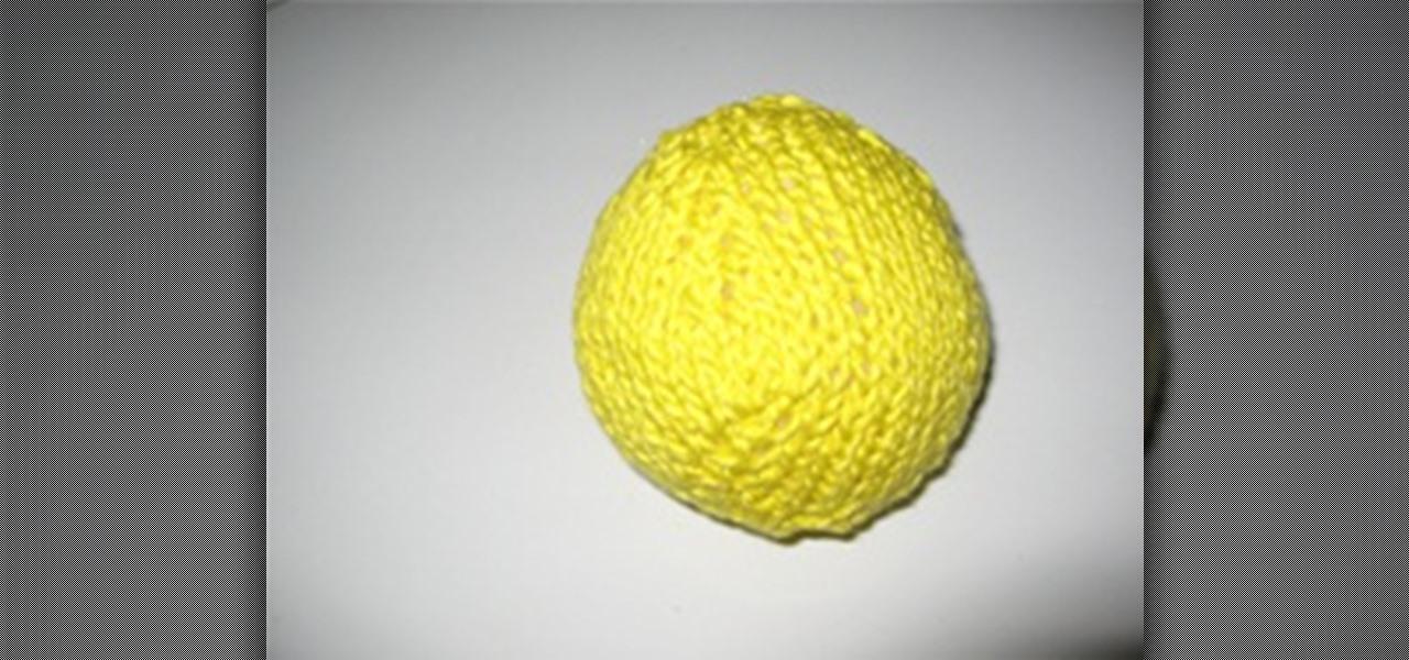 How To Knit A Ball Knitting Crochet Wonderhowto