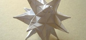 Fold an origami spiky star