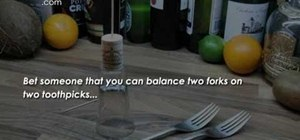 Do the balancing forks bar trick to win a free drink