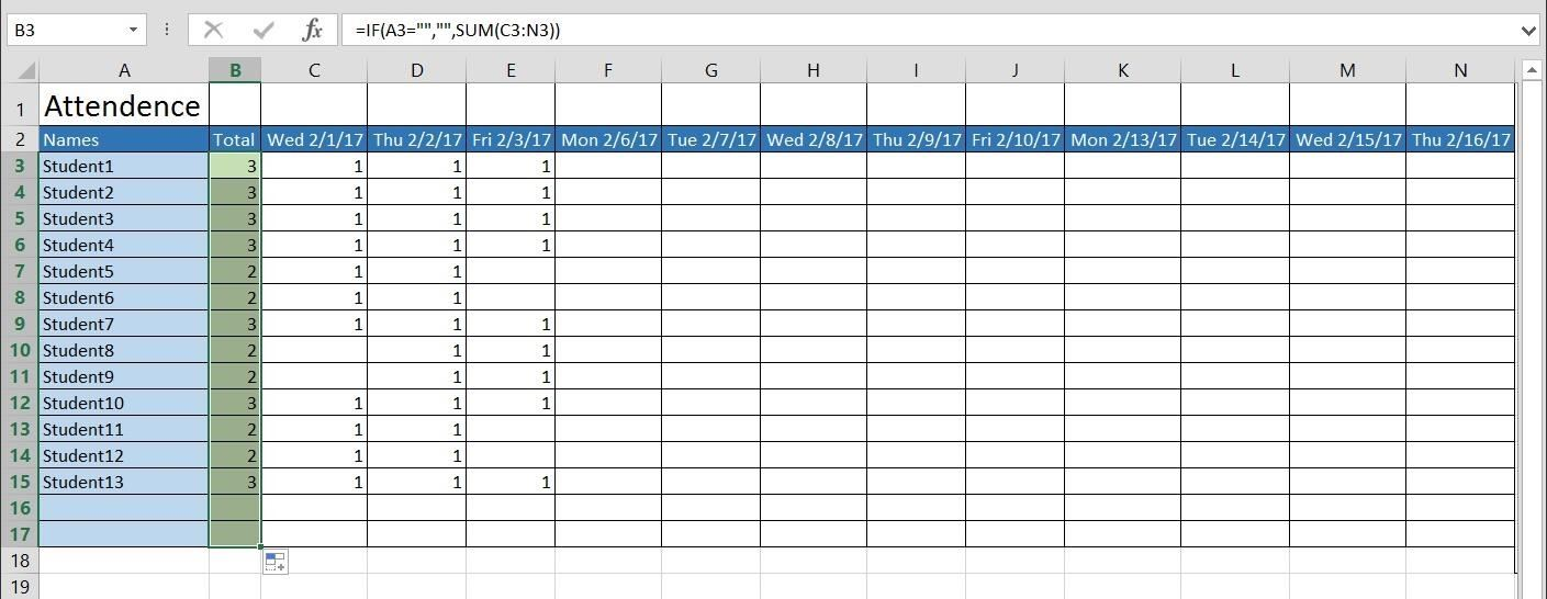Attendance Sheet For Office Printable Editable Blank – Office Attendance Sheet Excel Free Download