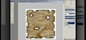 Create an old burnt treasure map in Photoshop