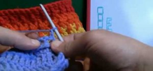 Do a right handed crochet pattern using back posts