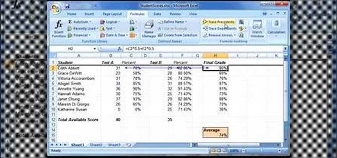 how to use excel formulas 2007