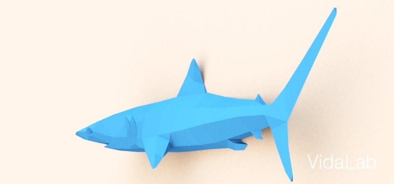 Razcapapercraft: 3D origami Shark   600x1280