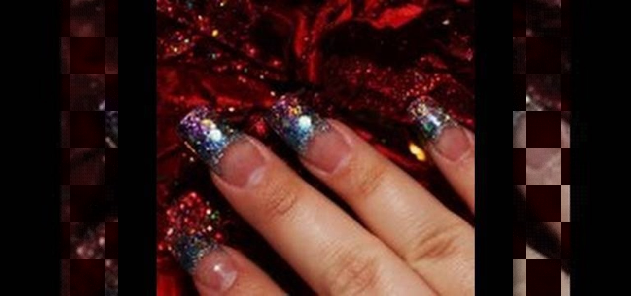 What do you need for glitter acrylic nails