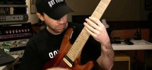 Play a 16th note-based funk riff on electric guitar