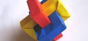 Origami a rectangle sculpture