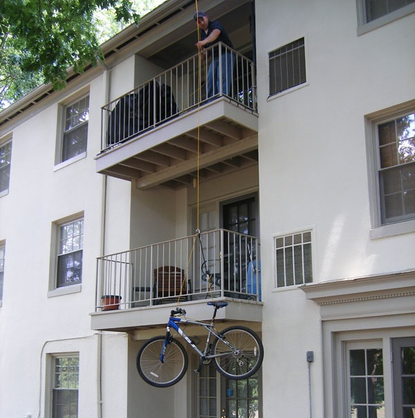 The Great Bicycle Hoist: No More Lugging Up the Stairs!