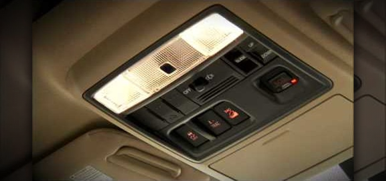 How To Adjust Interior Lights In A 2010 Toyota 4runner Driving Safety Wonderhowto