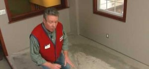 Prepare a concrete subfloor for flooring with Lowe's