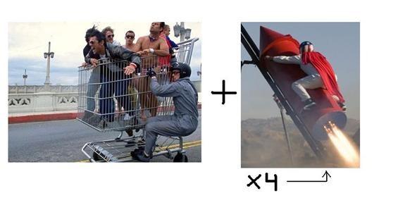 Giant Rocket Cart
