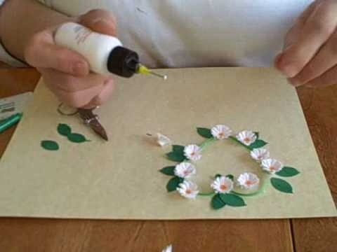 Make a fringed paper Valentine's Day flower heart