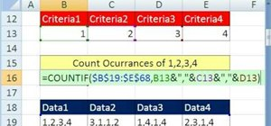 Use multiple cells as a single Excel COUNTIF variable