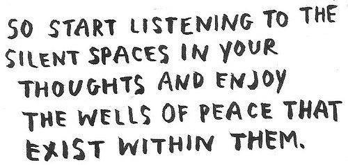 How to Listen to the Space Between Your Thoughts