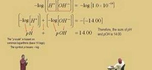 Use logarithms in chemistry intermediate algebra