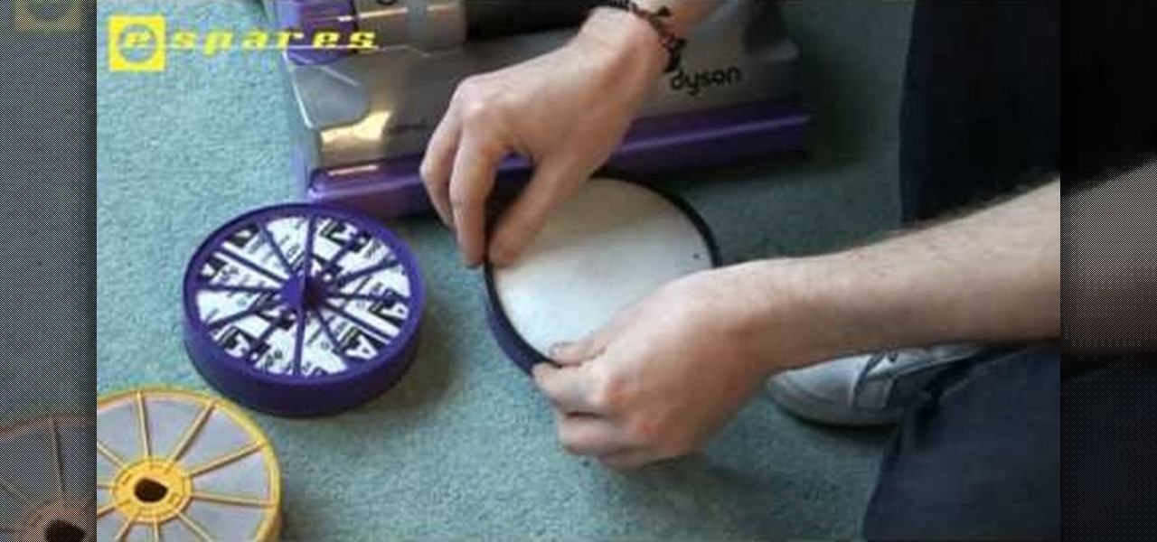 How To Replace The Hepa Filter On A Dyson Dc07 Vacuum Cleaner Home Liances Wonderhowto