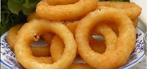 Make beer battered onion rings
