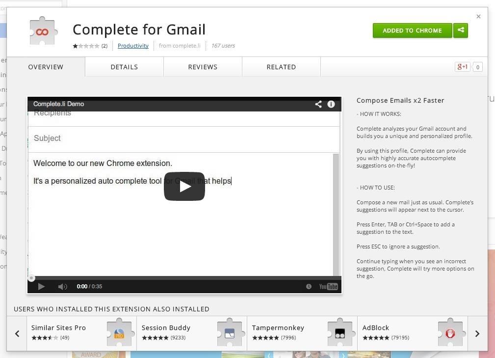 Type Faster Emails with Predictive Text for Gmail in Chrome