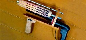 Geek-Shooting Rubberband Machine Gun