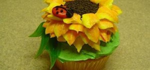Create sunflower and ladybug cupcakes for summer