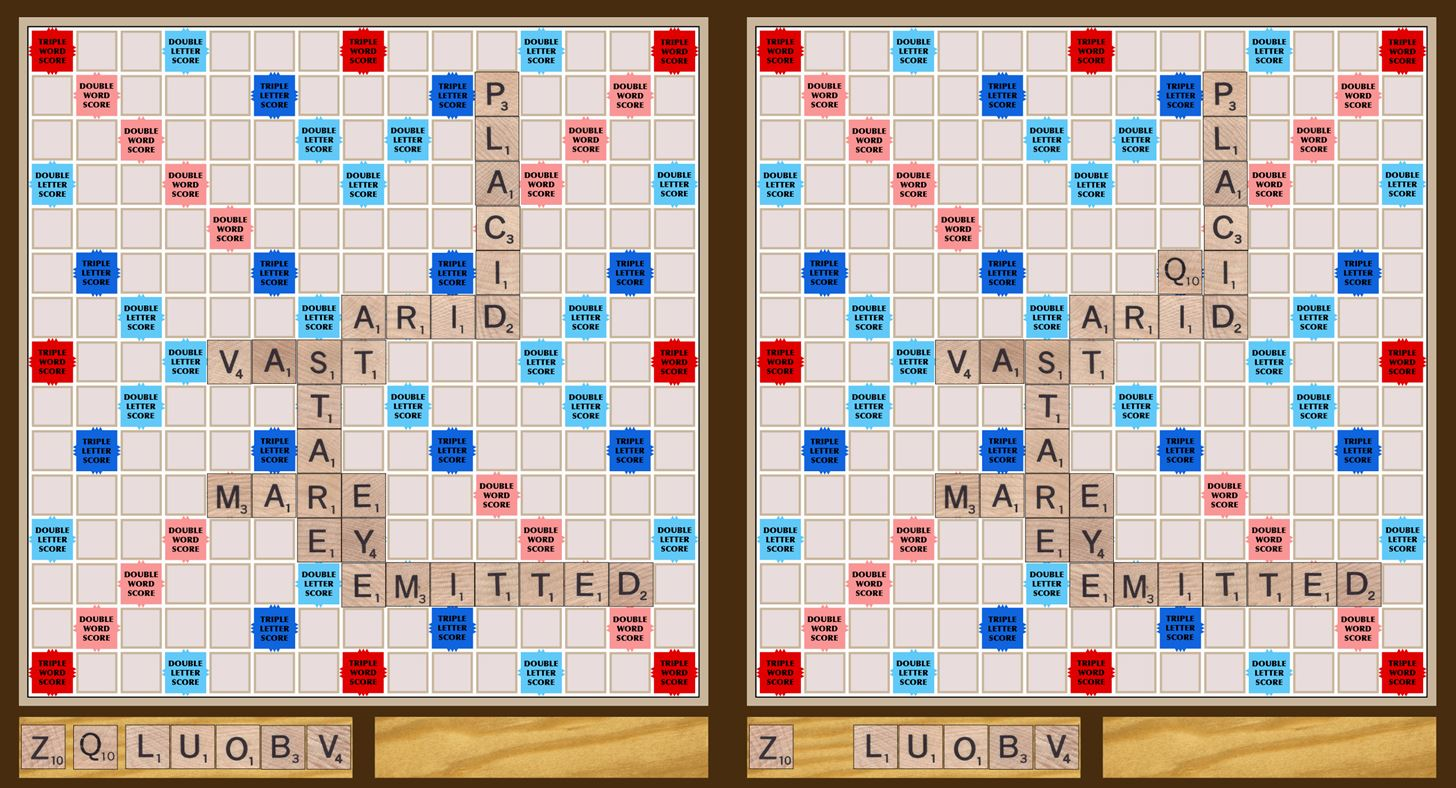 Letter Words Scrabble Using Q Or Z Or T