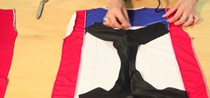 Recycle a soccer jersey or T-shirt into a patriotic bikini with Gianny L