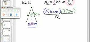 Find the area of a triangle with decimal measurements