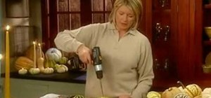Make gourd candles for fall with Martha Stewart