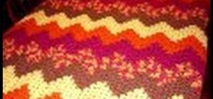 Crochet a granny ripple afghan