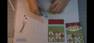 Use Child's Year Cricut cartridge for a Christmas card