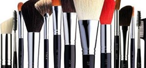 Select and use basic makeup brushes for your kit