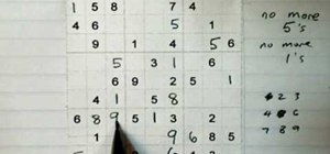 Solve a medium level sudoku puzzle