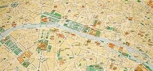 Beautiful Map-of-Paris Cake