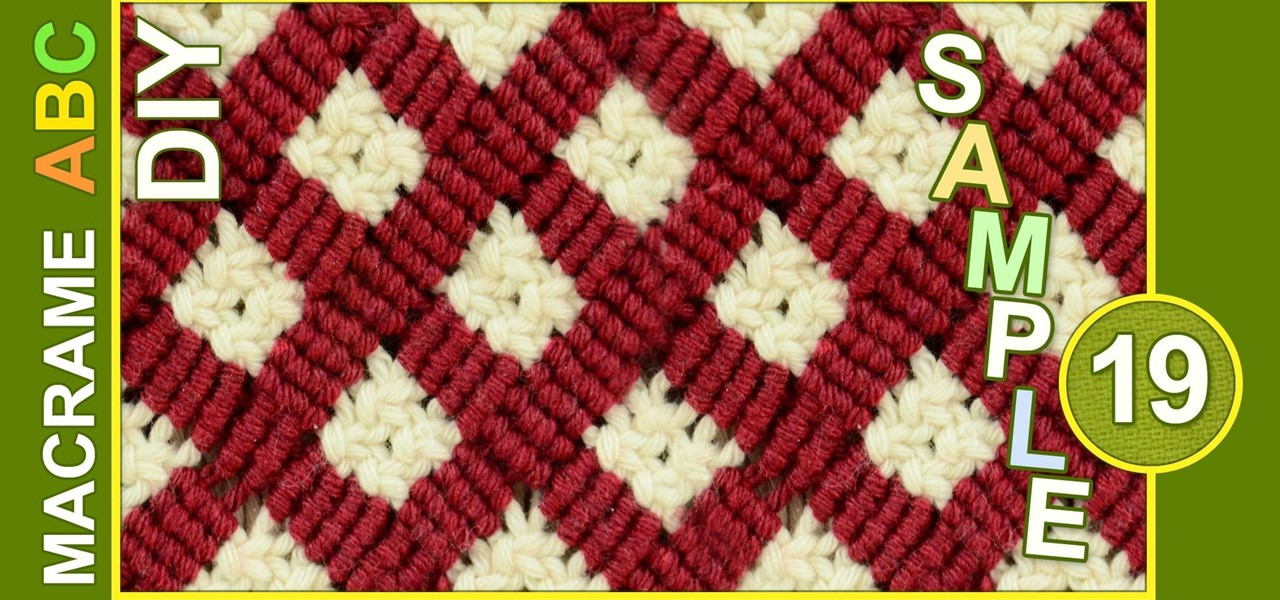 Crocheting Vs Macrame : Macrame ABC - Pattern Sample #19 ? Knitting & Crochet