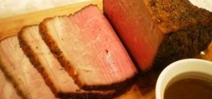 Prepare & cook roast beef in the oven