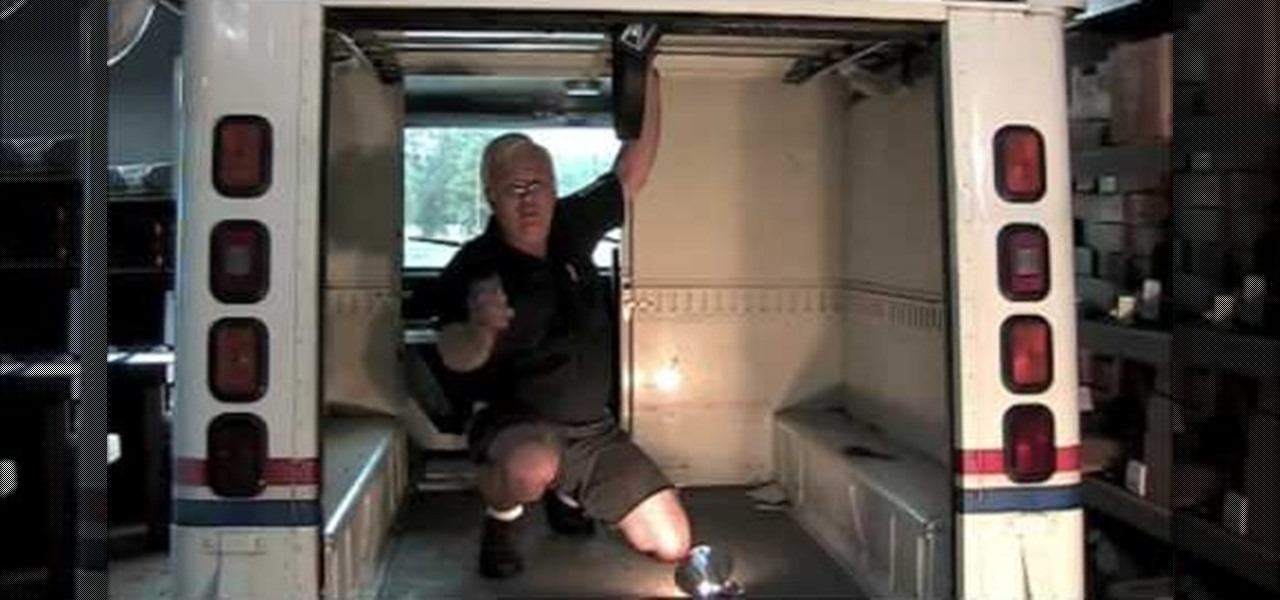 how to replace the rear cargo door roller track on an llv