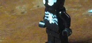 Make Spider-Man villain Venom out of Legos