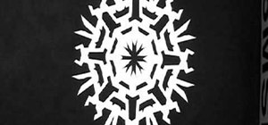 Quickly make a paper snowflake