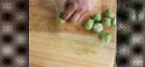 Prepare brussels sprouts for caramelization with useful tips
